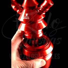 Imágenes de cachimba 630 Elox Combat Red Transparente