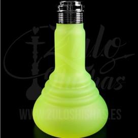 Imágenes de base de cristal para cachimba o shishas SPN 480 green neón