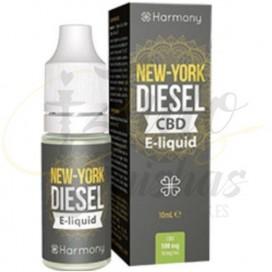 Imágenes de líquido para vapear con CBD Harmony New York Diesel