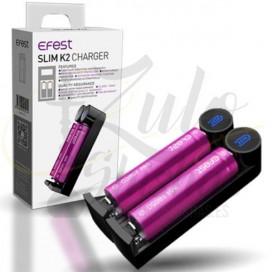 Imágenes de cargador doble para baterías de vapers Efest Slim K2