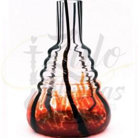 Imágenes de base de cristal para shisha 480 Cold Smoke Red Black