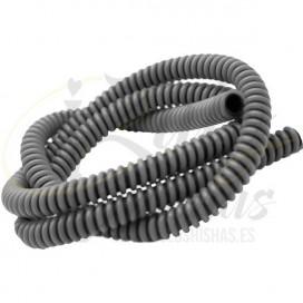Imágenes de manguera corrugada para shisha gris y negra