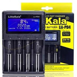 Imágenes de cargador cuadriple liitokala para baterias