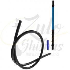Imágenes de manguera para cachimbas de carbono en color Azul