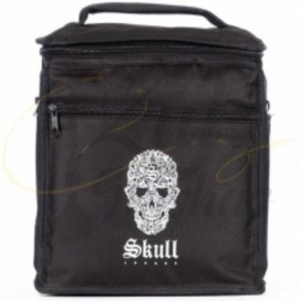 Imágenes de cachimba Skull Ovni XS Negra con conectores Rosa