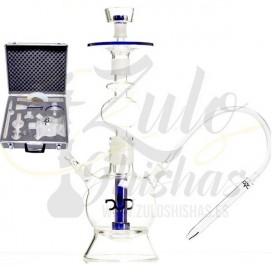 Imágenes de cachimbas DUD FAT BOY con maleta de cristal fabricadas en cristal completas