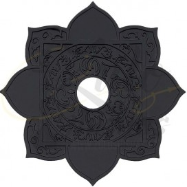 Imágenes de Plato MS MAshisha Maracaná LEAO en color negro COLD SMOKE ARABE BLACK