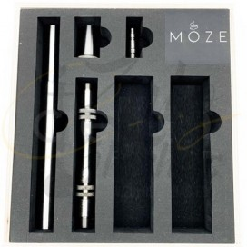 Imágenes de  cachimba MOZE BREEZE BLUE con base negra