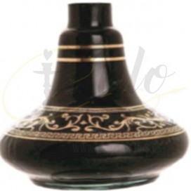 Imágenes de base de bohemia mini para cachimbas LUNA COROA BLACK GOLD