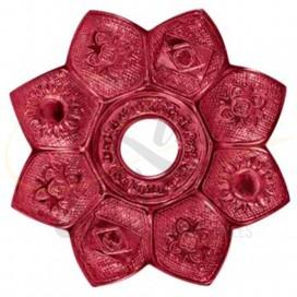 Imágenes de plato Amazon Revolution Shisha para cachimbas en color ROJO RED
