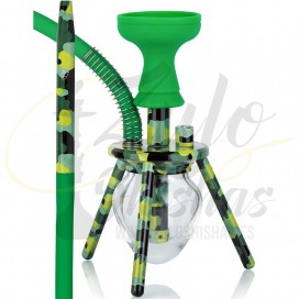 Imágenesde cachimbas con 3 patas tipo SPIDER OVNI XS TRAVELINA GREEN
