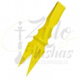 Imágenes de pinzas COLD SMOKE Amarillas para cachimbas