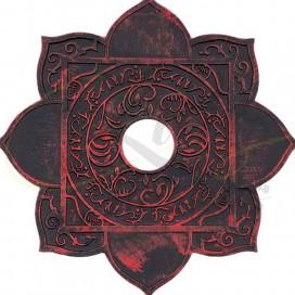 Imágenes de platos para cachimbas MS MARACANA en color rojo y negro