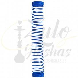 Imágenes de muelle para mangueras en color azul de cachimbas