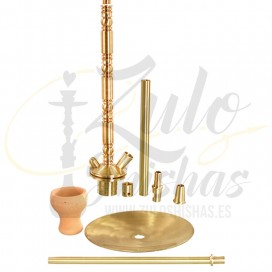 Imágenes de cachimbas tradicionales Kaya Shishas 680 Brass Booze 2S Gold