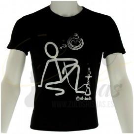 Imágenes de camiseta para cachimbas EL BADIA de color negro cachimbas y shishas