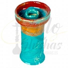 Alpaca Bowl Mini Rook - Turquoise over Orange