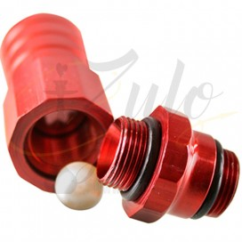 Imágenes de adaptador de manguera para cachimbas ELOX 18/8 en color ROJO