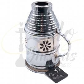 Imágenes de cubrevientos Cold Smoke pequeño para cachimbas y shishas