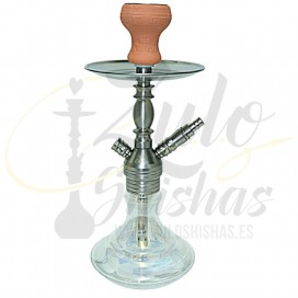 Imágenes de cachimba Caesar Paris 02 Stainless Steel Shining Transparent Clear