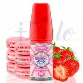 Imágenes de aromas para vapear Dinner Lady Strawberry Macaroon