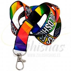 Imágenes de llavero lanyard LGTBIQ+ bandera orgullo para boquillas 3D de shishas y cachimbas