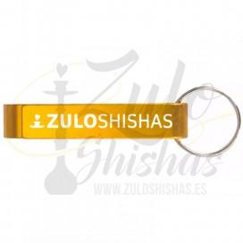 Imágenes de abridor de botellines para cervezas con llavero personalizados y con logo - DORADO ZULO SHISHAS