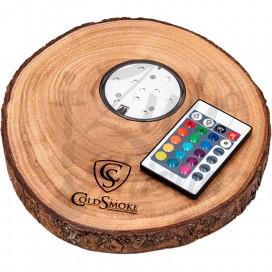 Imágenes de base led para cachimbas de madera COLD SMOKE TRONCO 20,5cm de diametro - INCLUYE LED