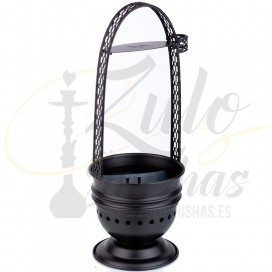 Imágenes de carbonera BLACK para cachimbas DUM SHISHAS - Recipiente para carbones de cachimbas