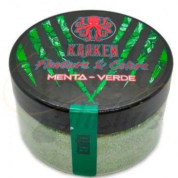 Imágenes de colorante para cachimbas en polvo color verde sabor Menta ANIMALESYS y KRAKEN COAL