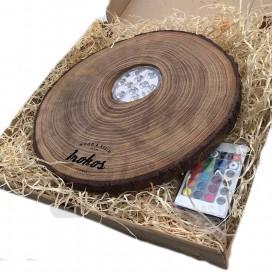 Imágenes de bases de madera WOODBASE IROKOS con led FIT SLIM para cachimbas tapetes de shishas