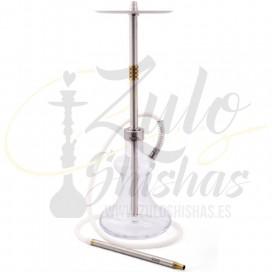 Imágenes de cachimba Oduman Hybrid Gold comprar online shishas de cristal acero inoxidable NUEVOS MODELOS