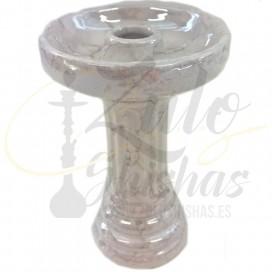 Imágenes de cazoleta para cachimbas EL NEFES PORCELAIN fabricadas en porcelana color BLANCO