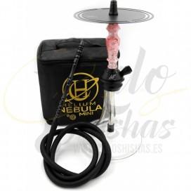 Imágenes de cachimba Helium Nebula Mini en color Rosa y Negra o PINK comprar online con ¡MALETA DE REGALO!