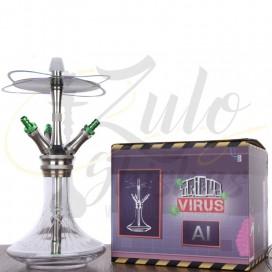 Imágenes de cachimba Tribus Hookah H andcut Virus Green comprar online cachimbas