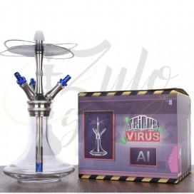 Imágenes para cachimbas Tribus Hookah Virus Handcut comprar online en color AZUL