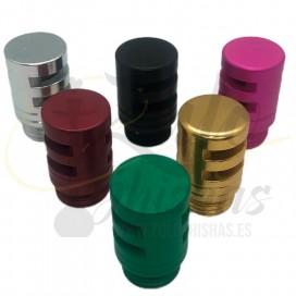 Imágenes de tapón de purga original para cachimbas Super Hookah Brasileñas disponible en diversos colores