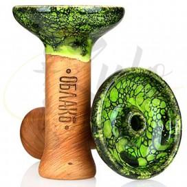 Imágenes de cazoleta para cachimbas Green MArble Oblako Phunnel M en color VERDE