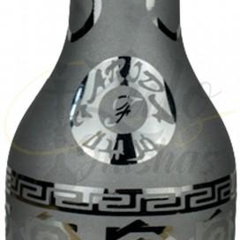 Imágenes de base de cristal para cachimbas premium Farida Queen Silver Metallic comprar online fabricadas a mano