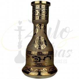 Imágenes de base para cachimbas tradicionales Premium Glass Farida Queen Gold comprar online