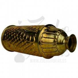Imágenes de cubrevientos Farida Royalty Leaf Gold dorado fabricado en COBRE