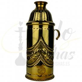 Imágenes de cubrevientos Farida Royalty Gold Flowers en color DORADO