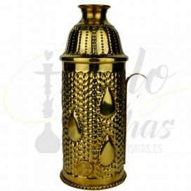Imágenes de Cubrevientos para cachimbas fabricado en Cobre Farida Royalty Drop Gold