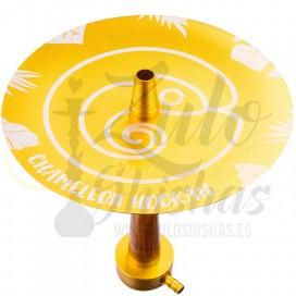 Imágenes de cachimba Chameleon Hookah Crazy Gold comprar en color DORADO de RESINA