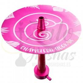 Imágenes de cachimbas Chameleon Crazy Pink en color ROSA fabricadas en España con resina y aluminio