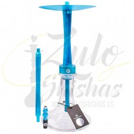 Imágenes de cachimba Chameleon Hookah Turquoise color celeste comprar online en AZUL