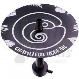 Imágenes de cachimba Chameleon Hookah Crazy Black en color Negra fabricada en Aluminio y Resina