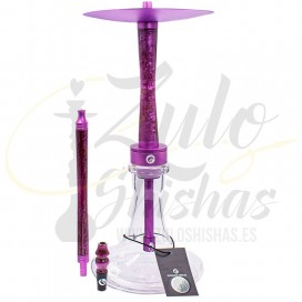 Imágenes de cachimba de resina española Chameleon Hookah morada lila purple - Modelo Chameleon Crazy
