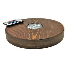 Imágenes de tapete o protector de base para cachimbas El Nefes Hookah de madera con led remoto mando a distancia