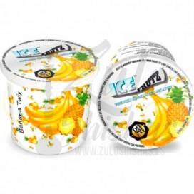 Imágenes de gelatinas para fumar en shisha Banana Twix comprar online sabor Banana y Piña